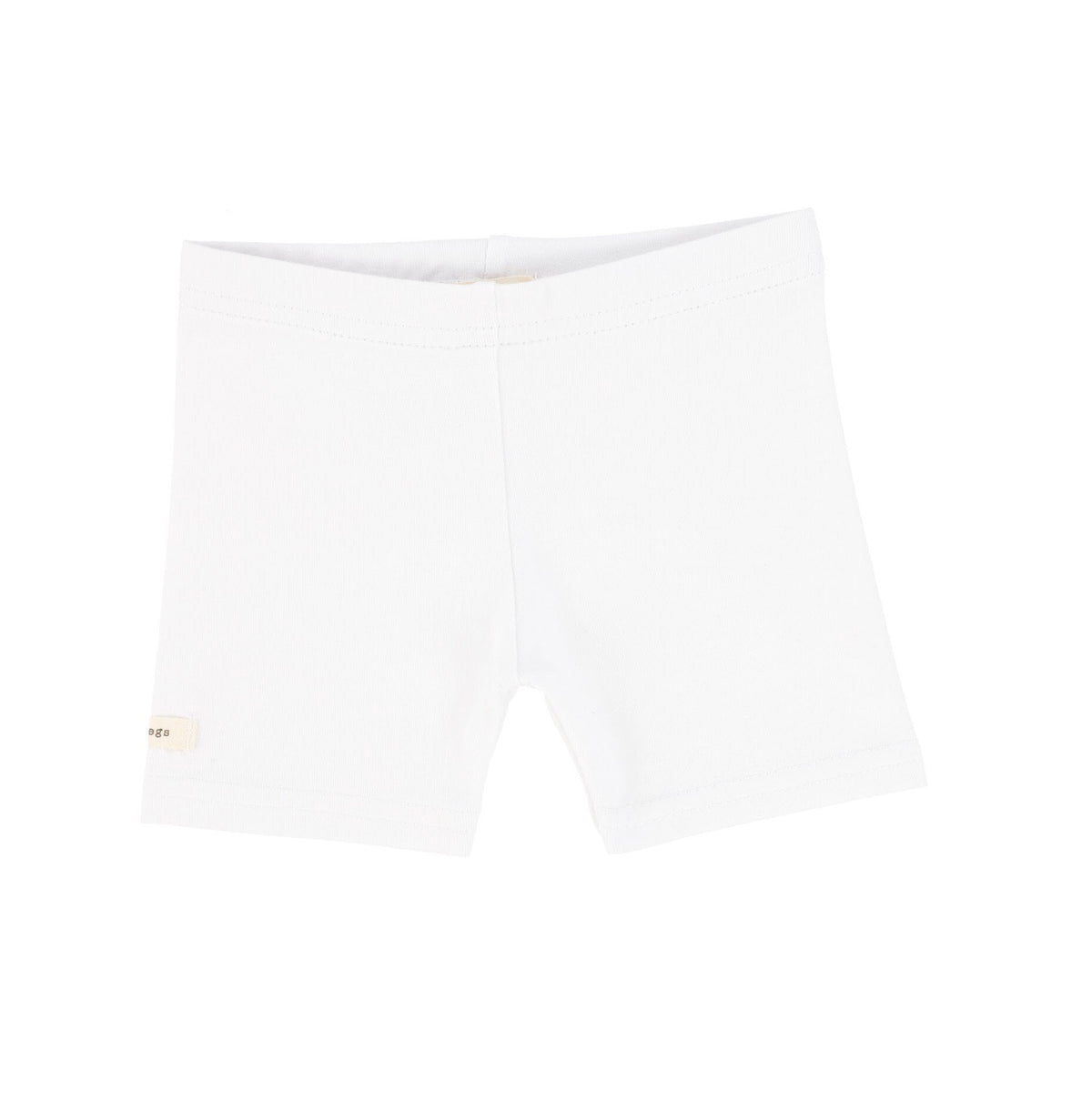 Pure White Biker Shorts