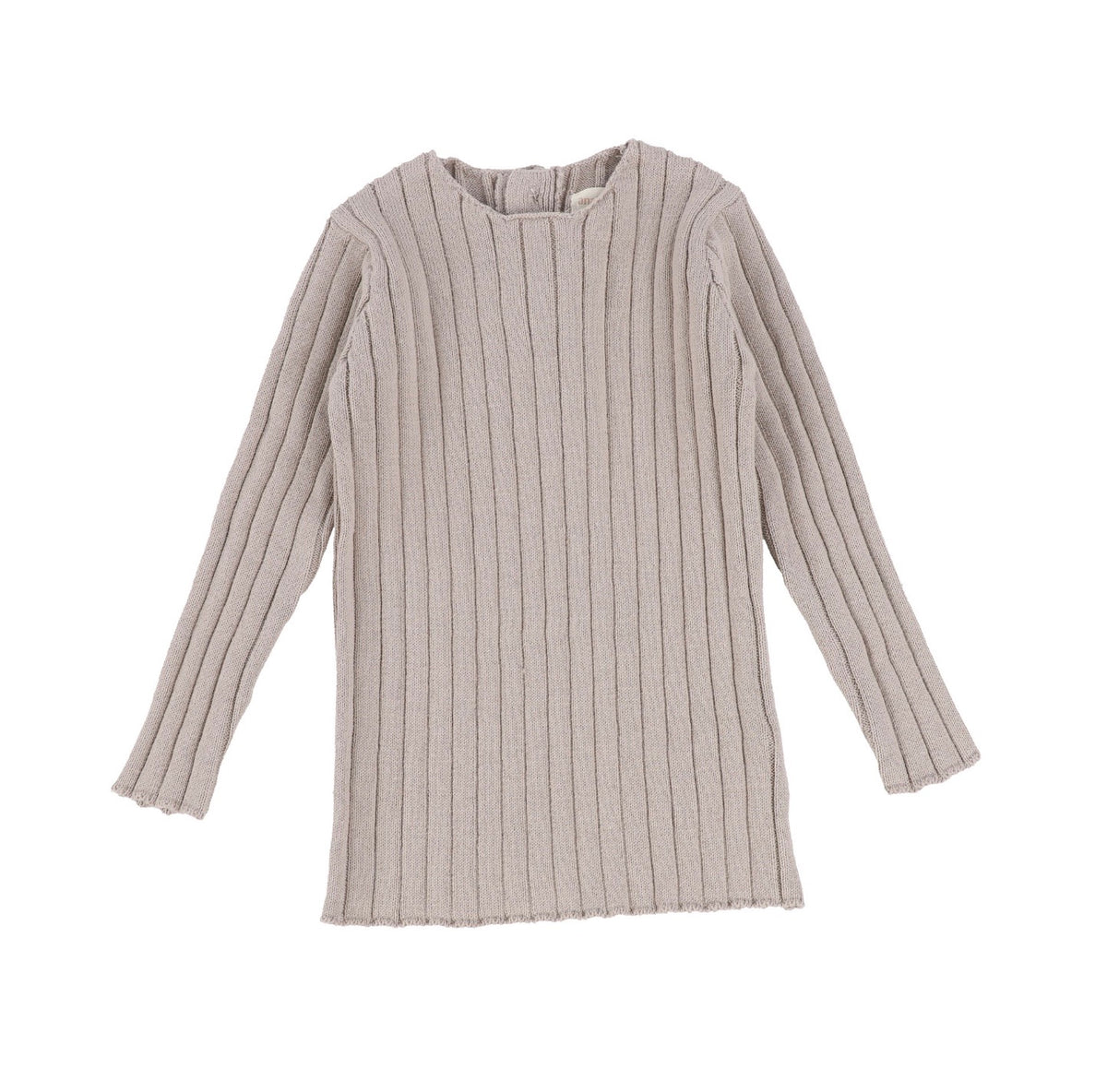 Taupe Long Sleeve Knit Sweater