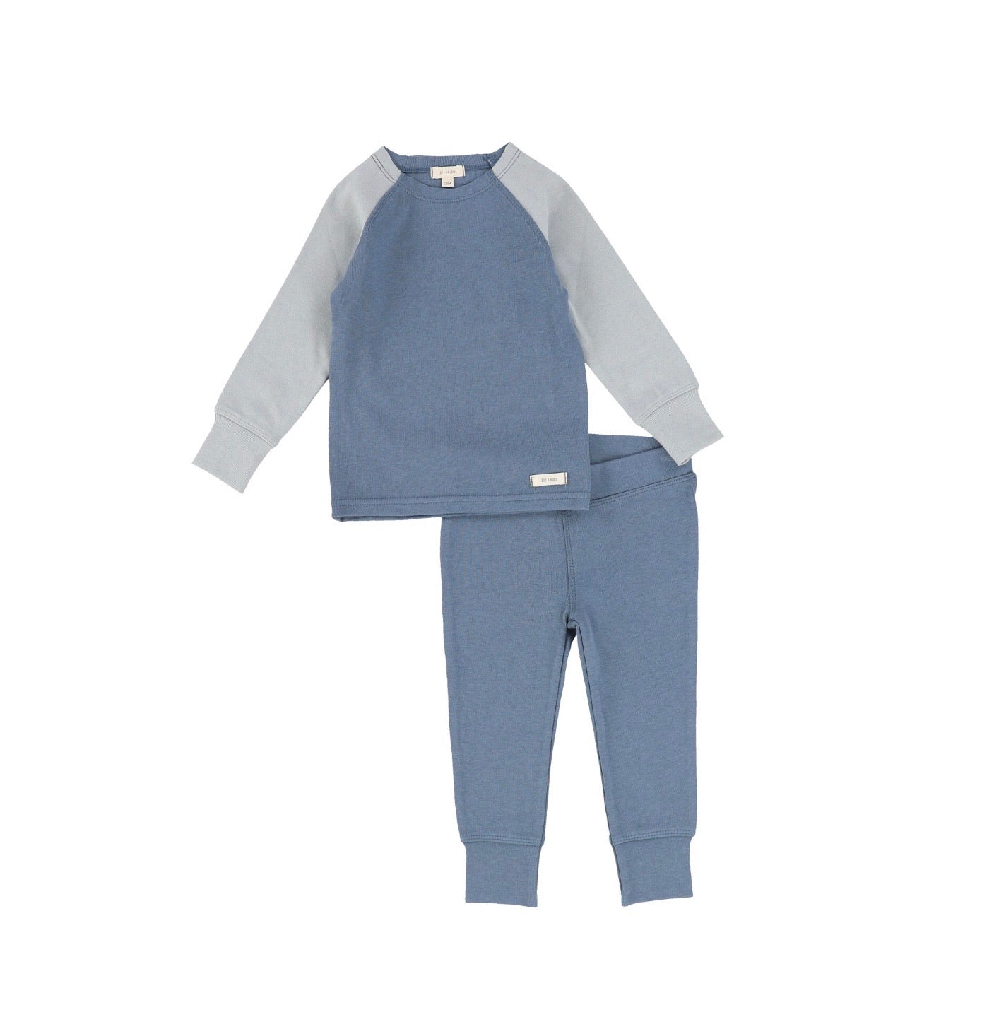 Blue Long Sleeve Raglan Pajamas