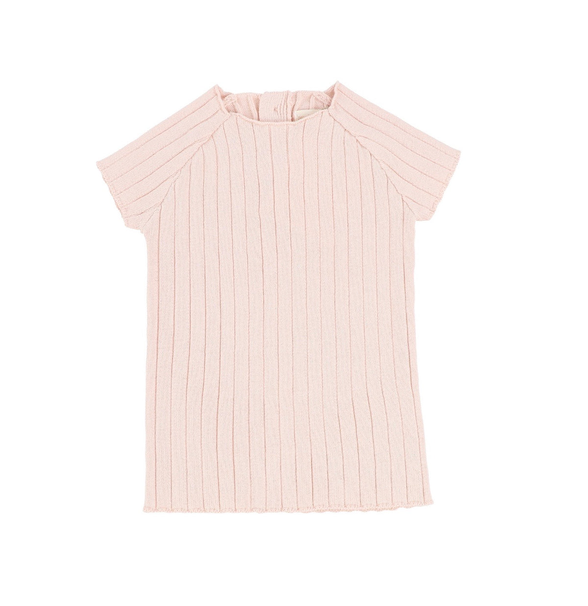 Pink Short Sleeve Knit Sweater