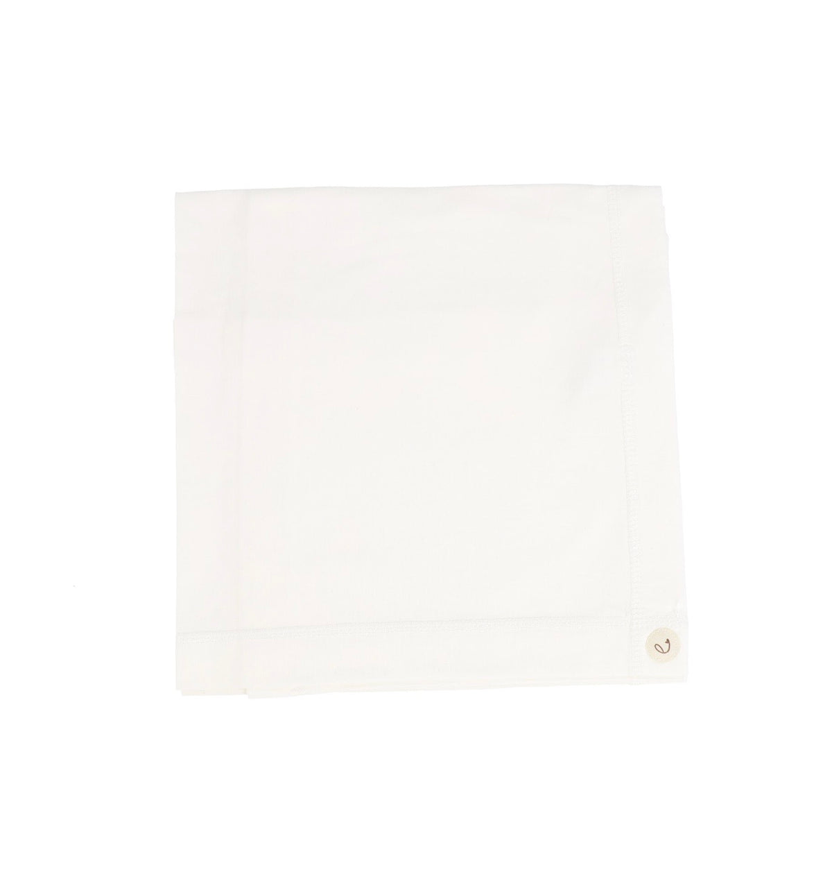 White Brushed Cotton Wrapover Blanket