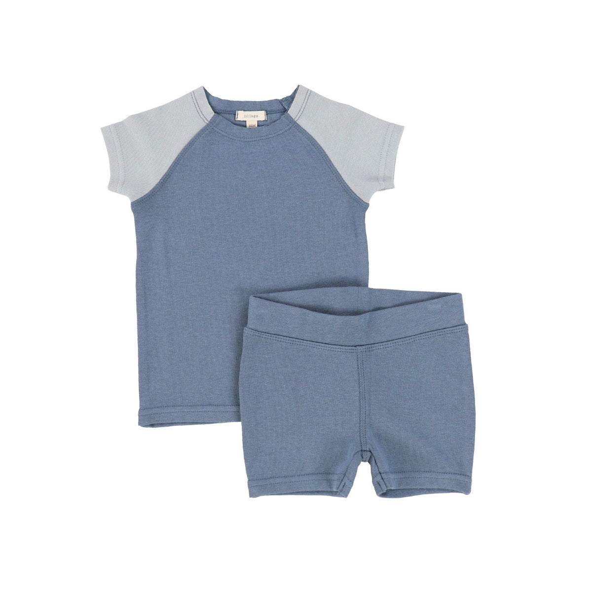 Blue Short Sleeve Raglan Pajamas