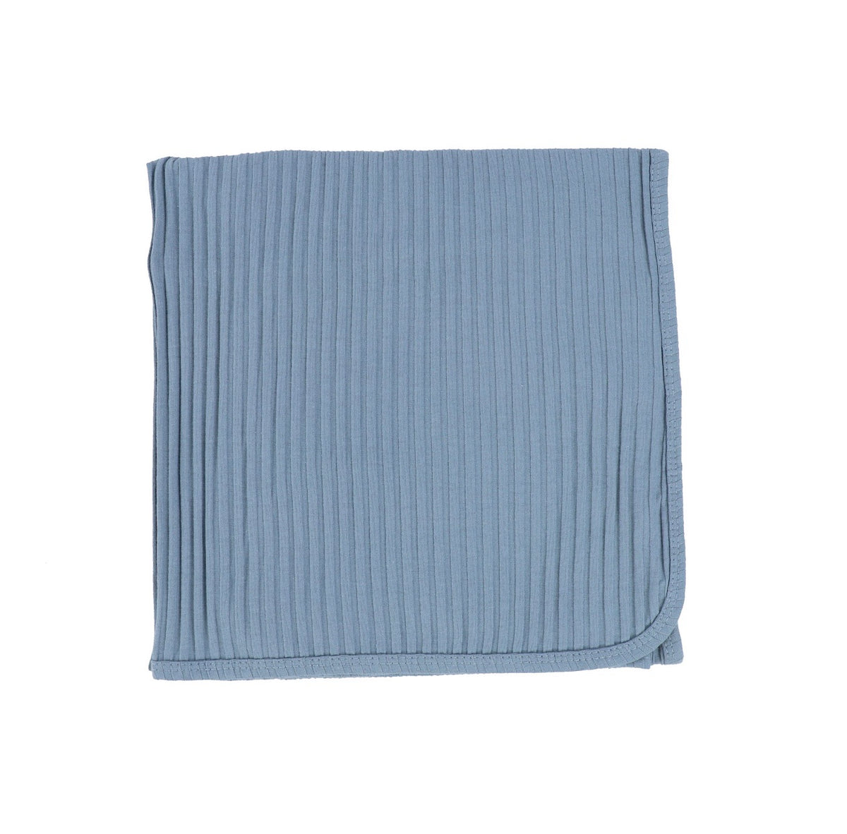 Very Blue Wide Ribbed Blanket