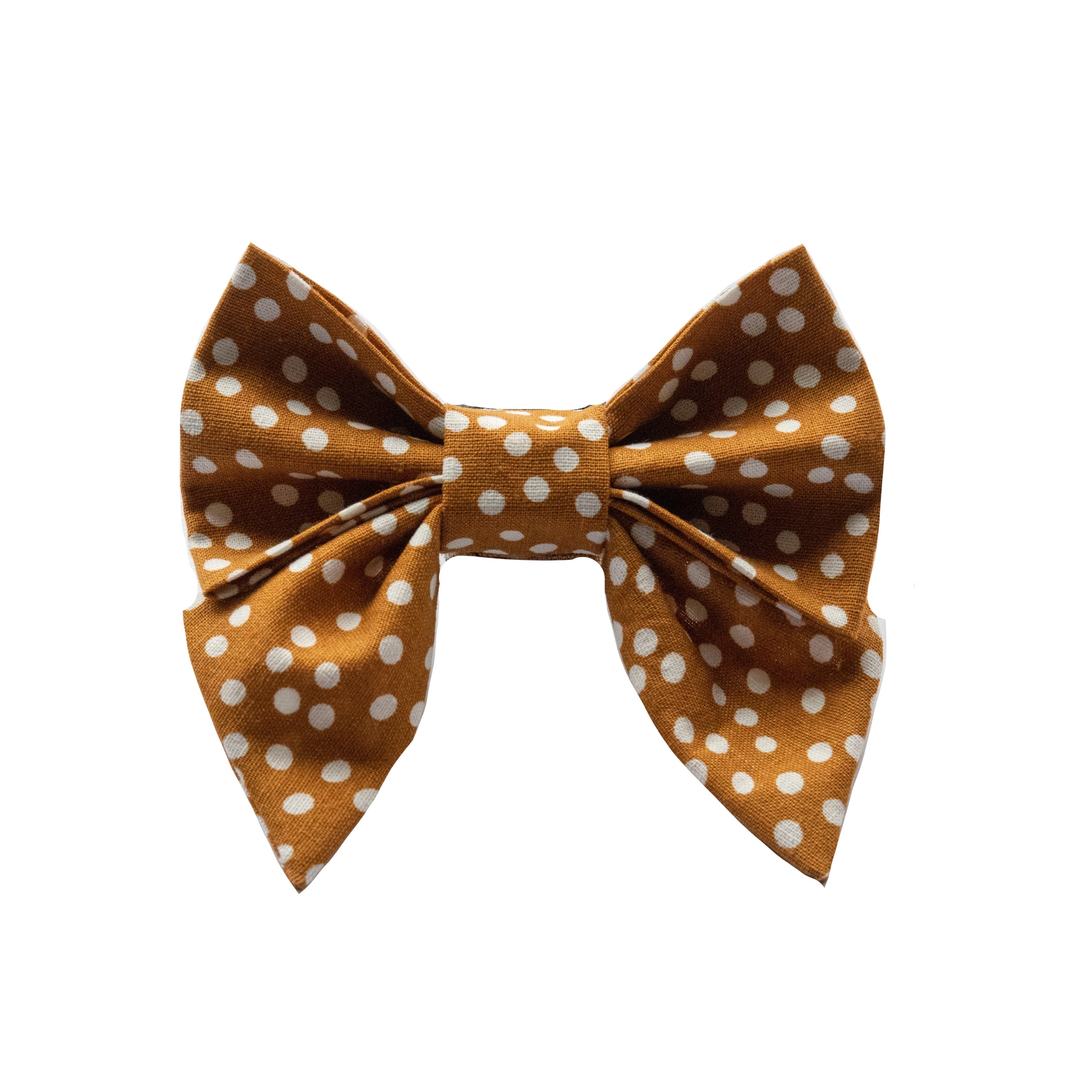 Mustard Dots Sailor Bow
