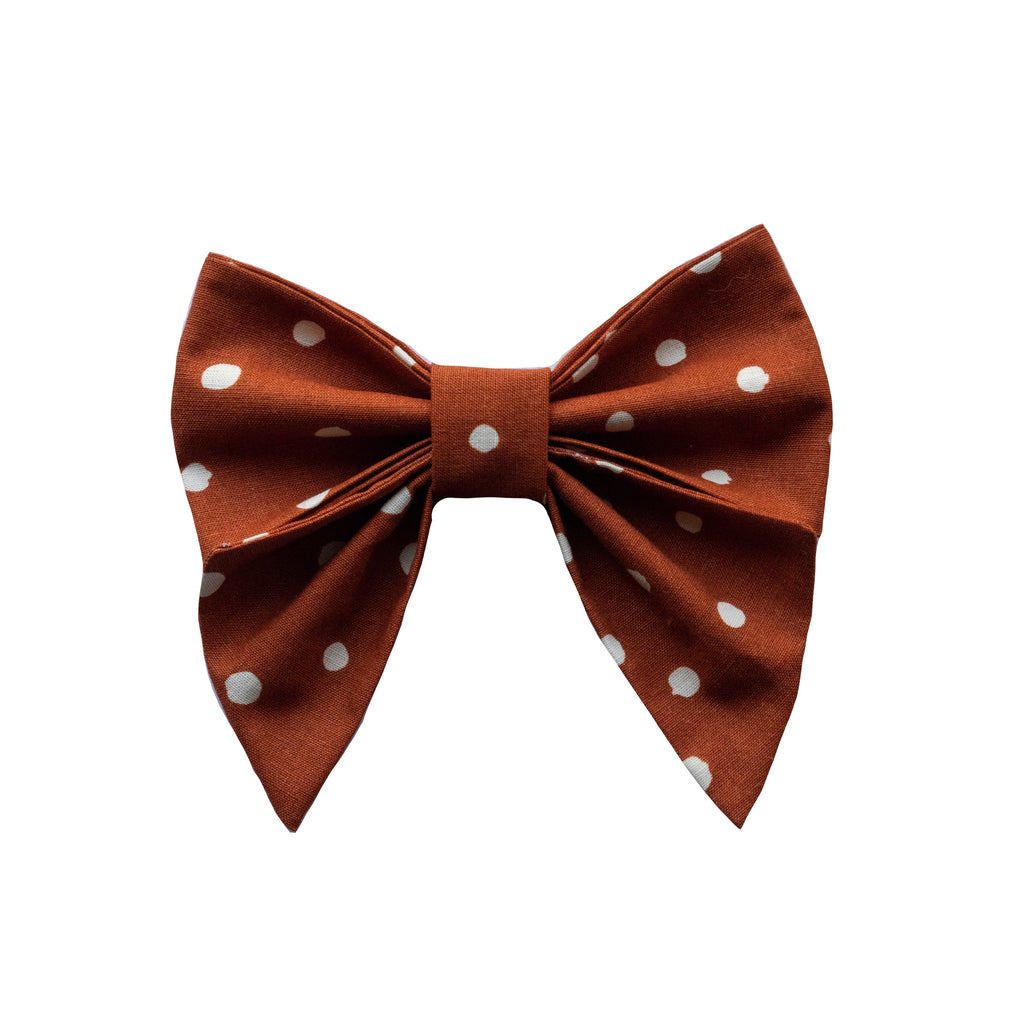 Burnt Orange Sailor Bow