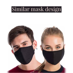 Face Mask - Black Rose