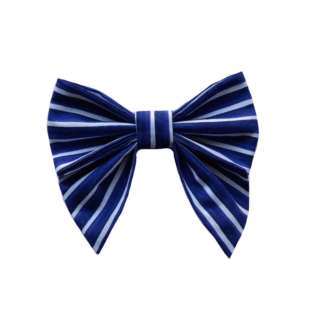 Navy Stripe Sailor Bow