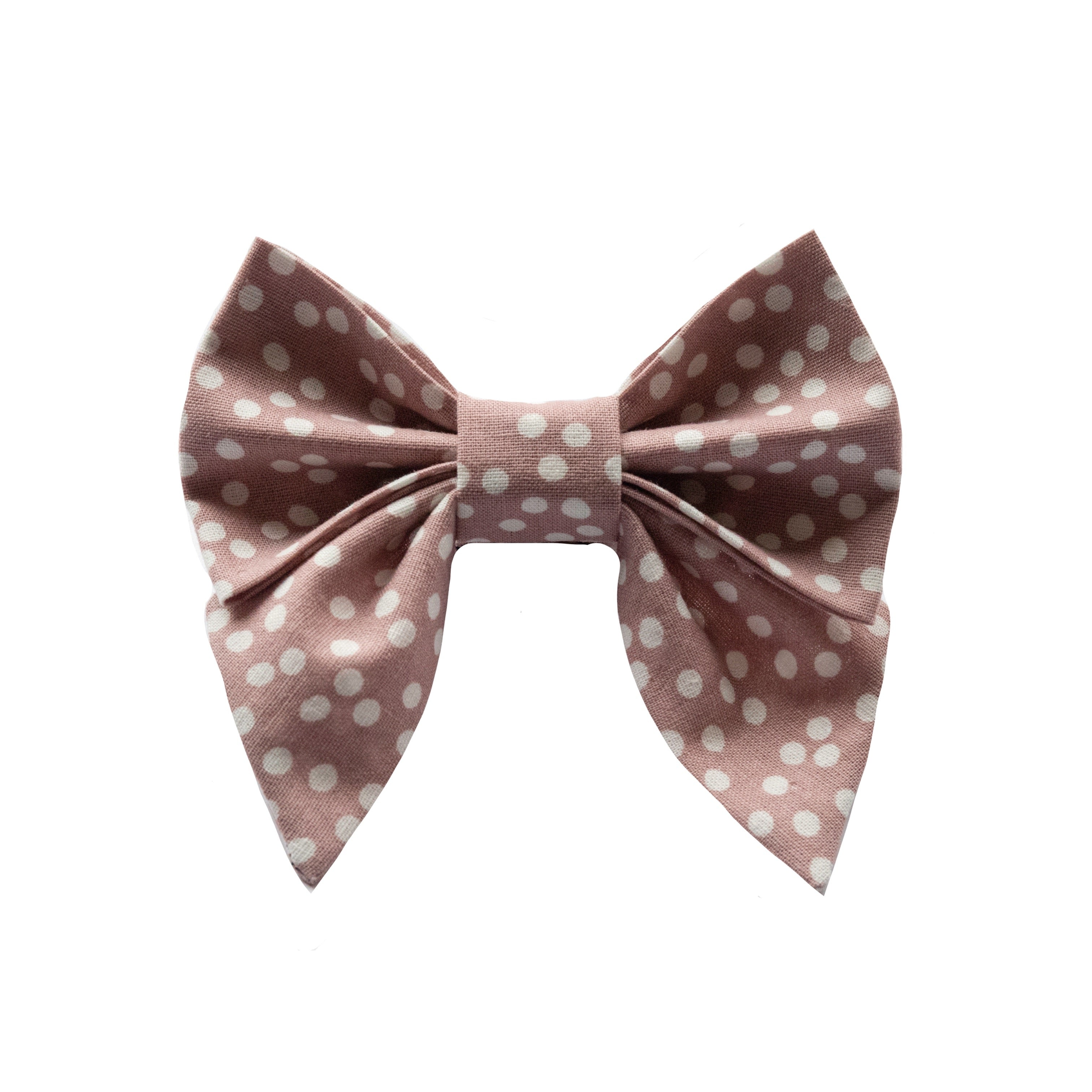 Blush Dots Sailor Bow
