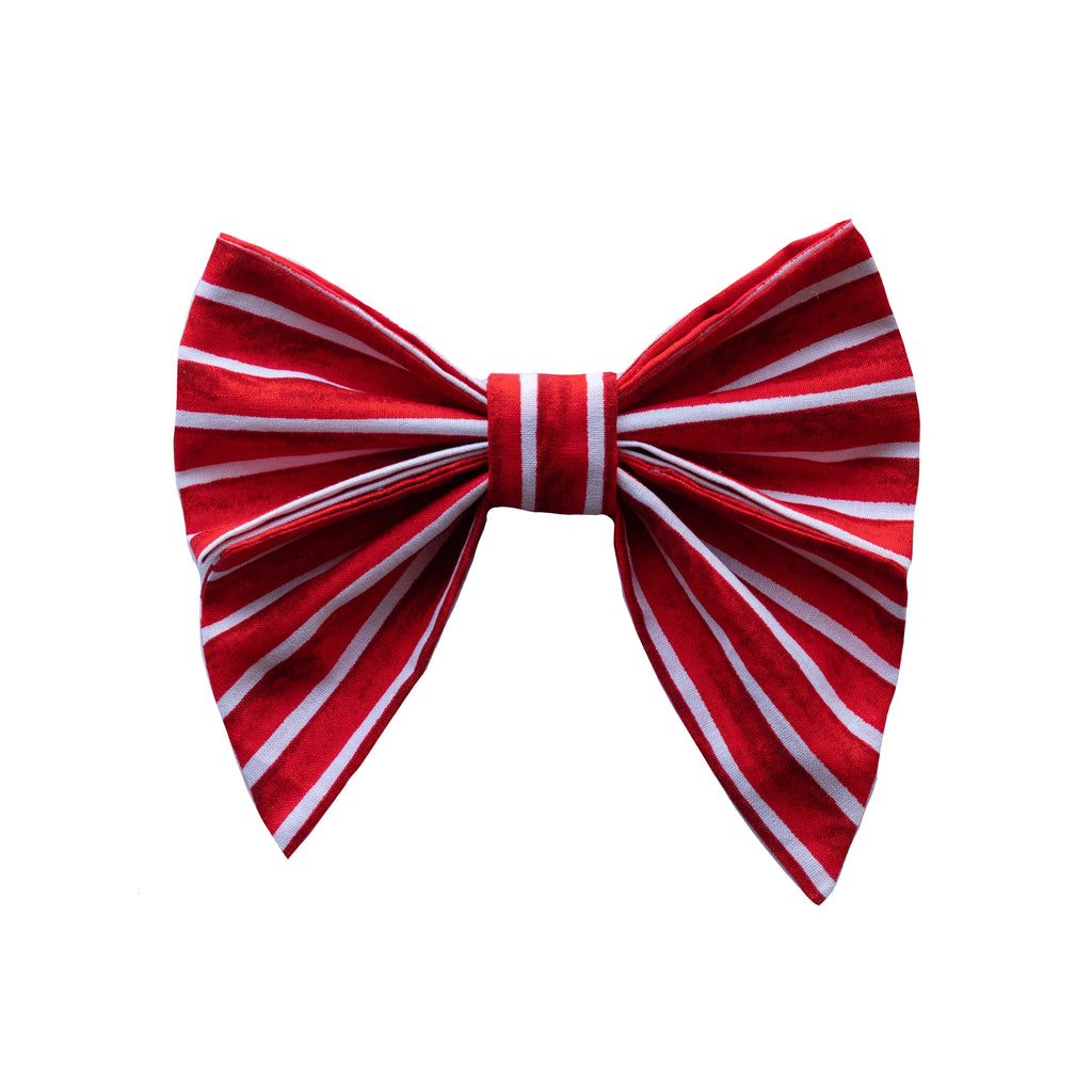 Red Stripe Sailor Bow