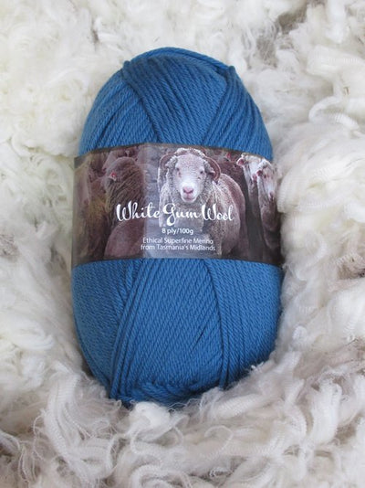 White Gum Wool 8Ply Fairy Wren