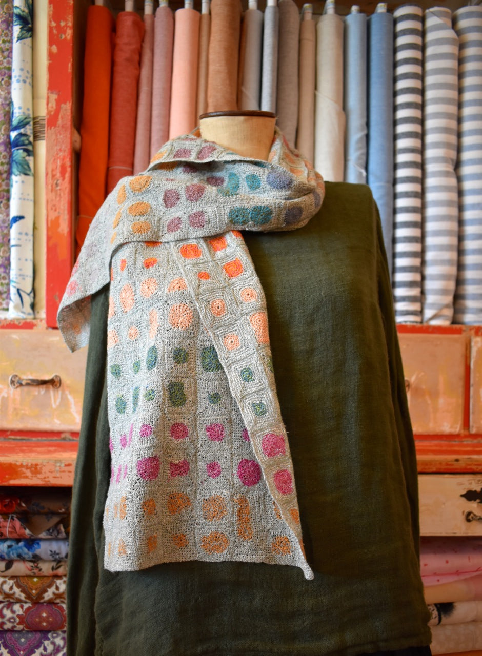 Sophie Digard Circle & Square Linen Scarf