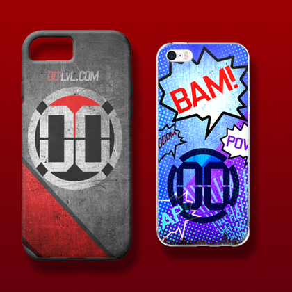 Protect your phone and sport some cool 00 LvL art at the same time. Get the right case for your phone to level up your cell phone game.