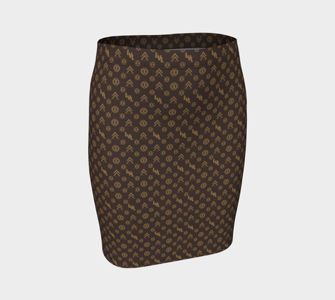 00 LvL Luxury Fitted Skirt - Gold