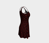 00 LvL Luxury Flare Dress - Black Red