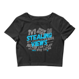 Stealing Views Baby Blue Crop Tee - 00LvL