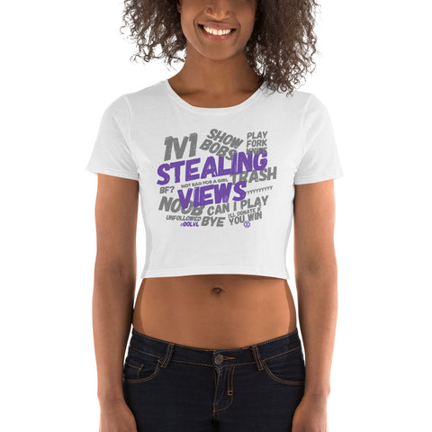 Stealing Views Purple Crop Tee - 00LvL