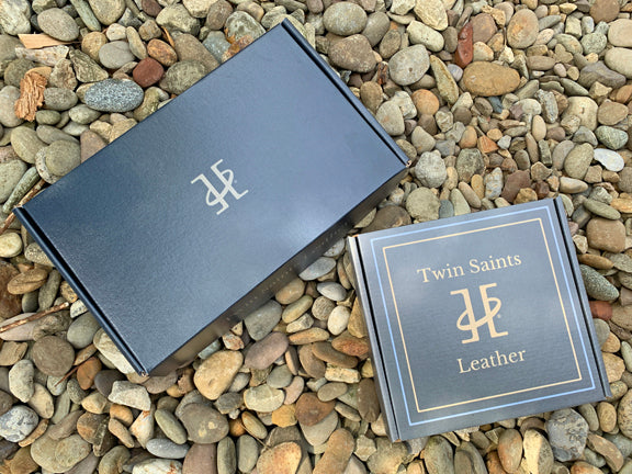 Upgrade Your Gifting with our New Twin Saints Leather Gift Boxes.