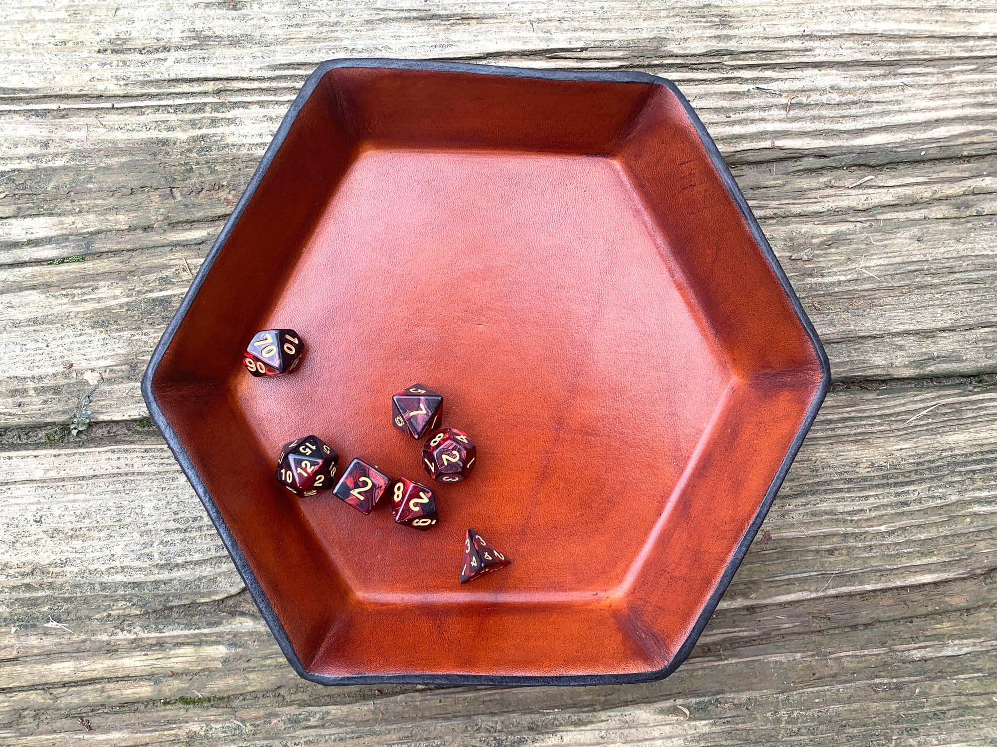 Leather Dice Tray.  Perfect for Taking Your Game to the Next Level.