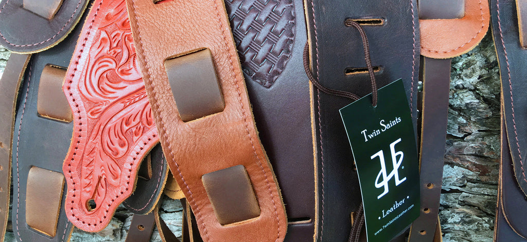 Twin Saints Leather. Instrument Straps and Leather Gifts for Men.