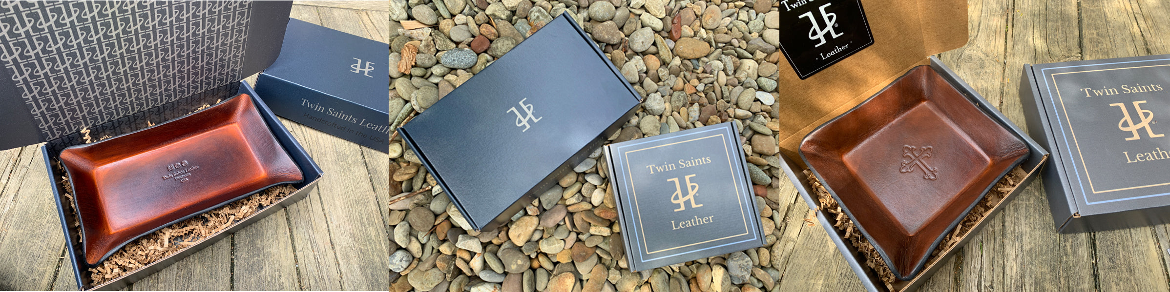 Gift Boxes. Twin Saints Leather