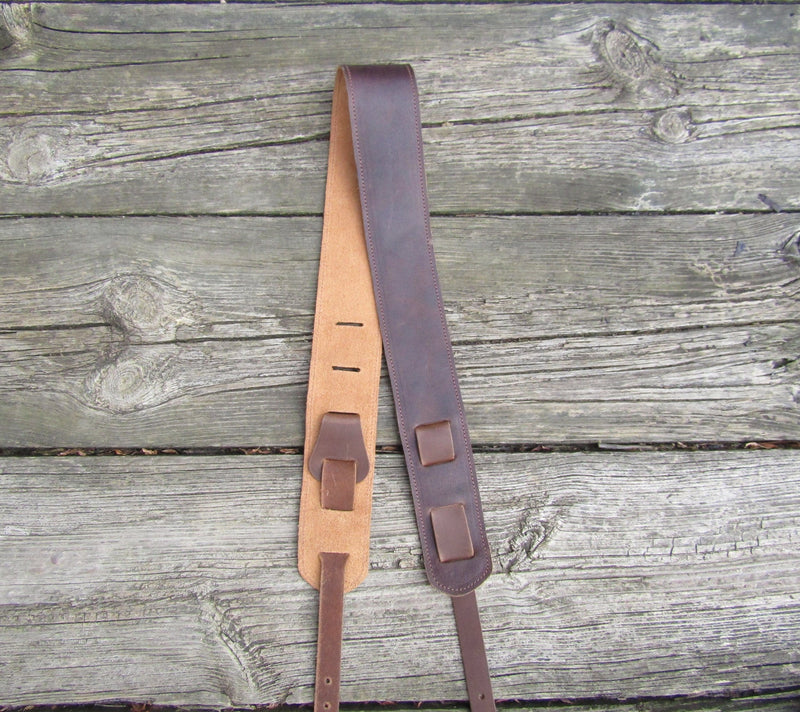American made leather banjo strap.