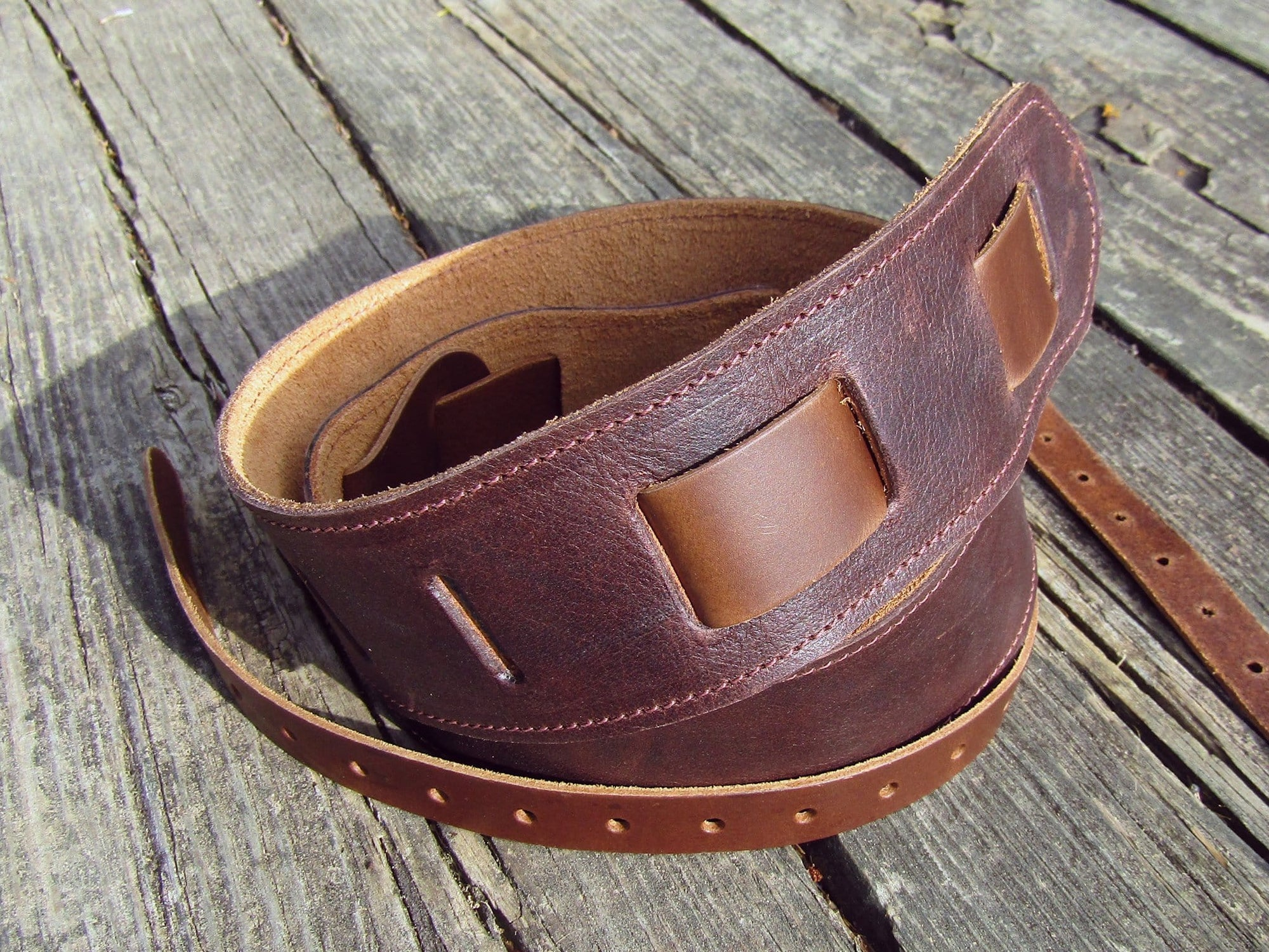 Classic Soft Leather Banjo Strap. Made in America.