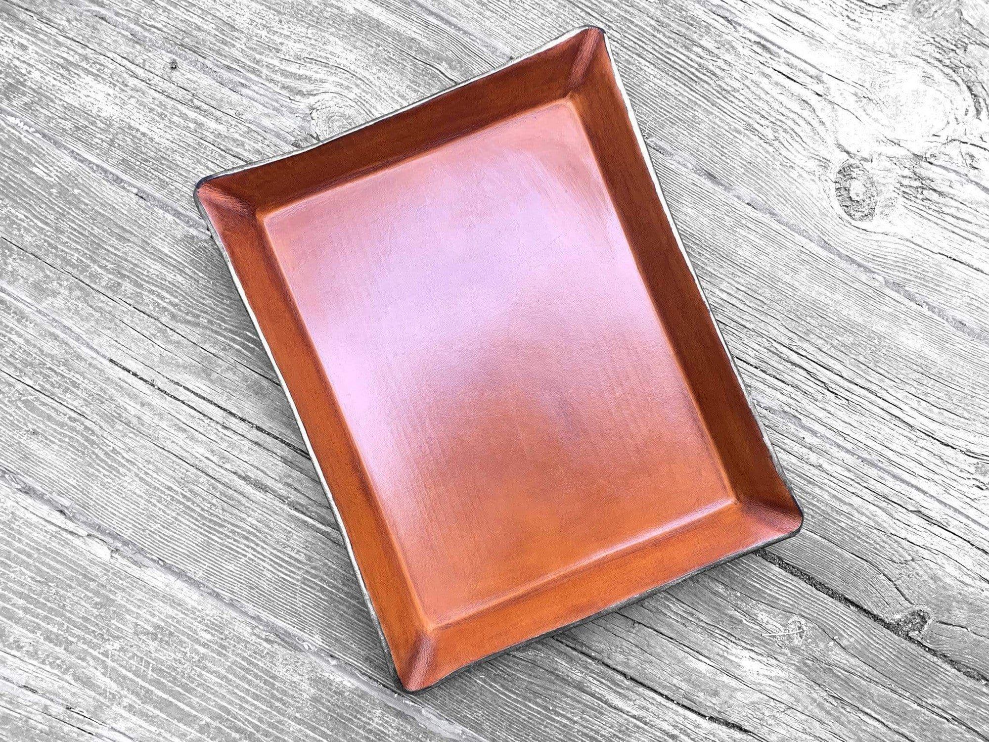 Leather Paper Tray. Large Valet.