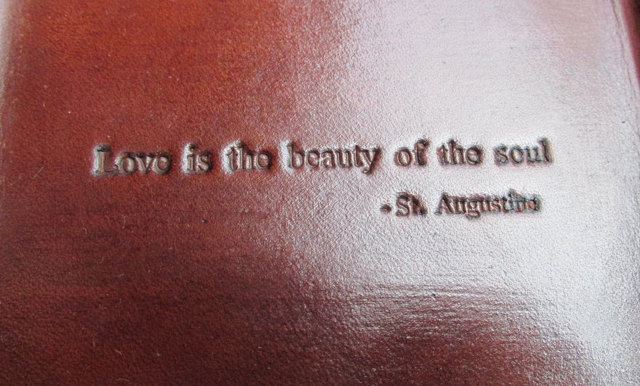 Leather 3rd Anniversary Gift Love Is The Beauty Of The Soul Tray