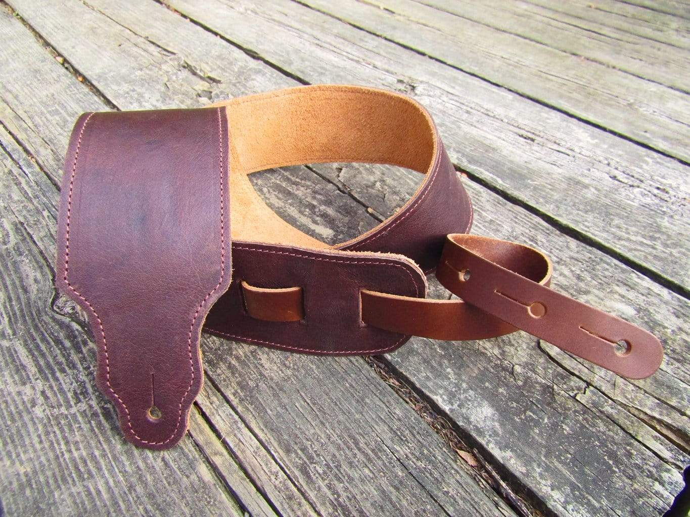 Soft leather guitar strap.