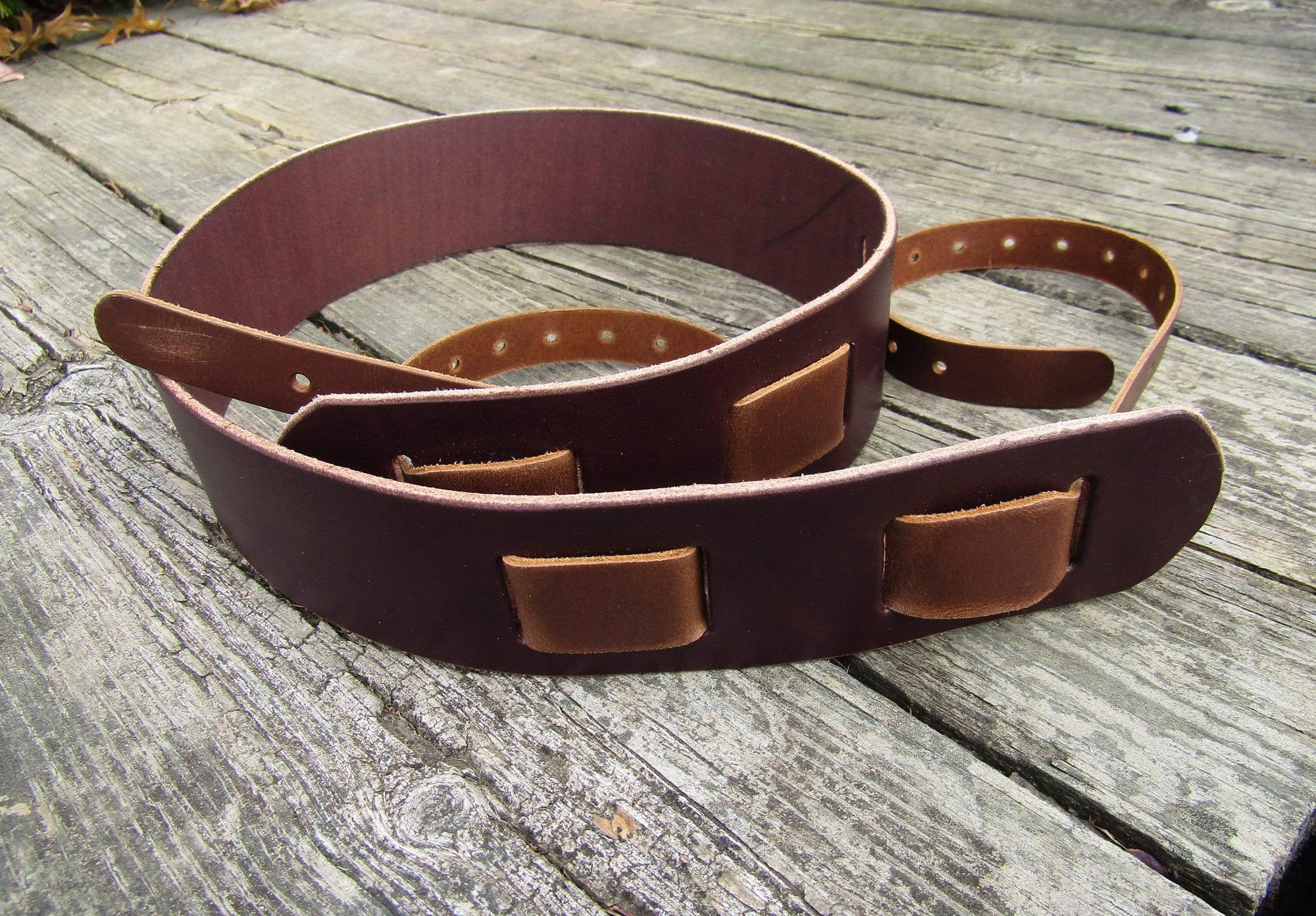 Bridle Leather Banjo Strap: The Clifton