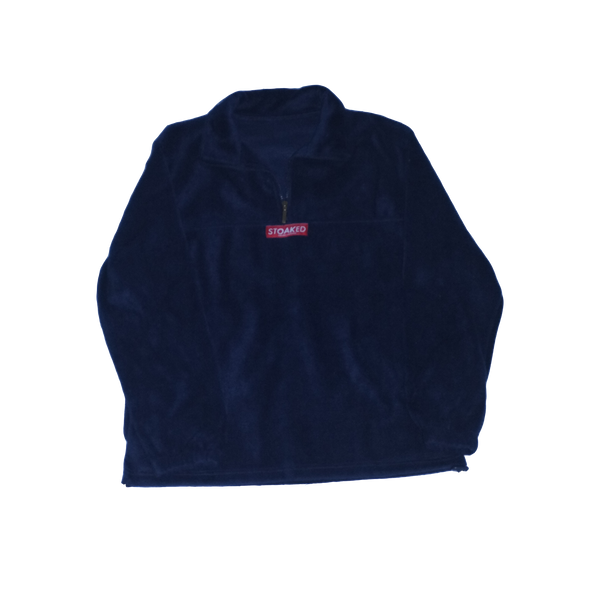 Navy Red Fleece