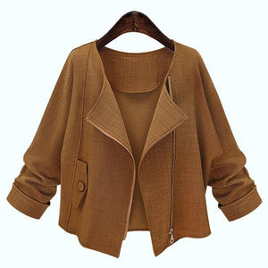 Long Sleeve Pure Color Jacket