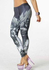 Batman Print High Stretchy Leggings For Women