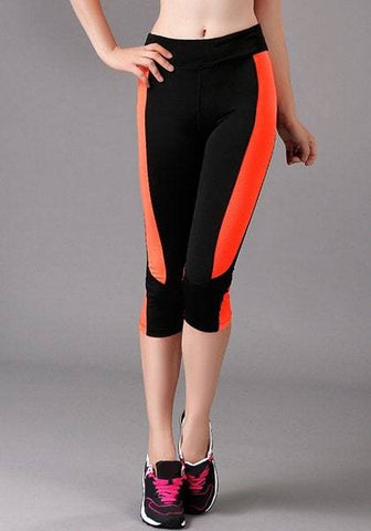 High Waist Hit Color Bodycon Leggings