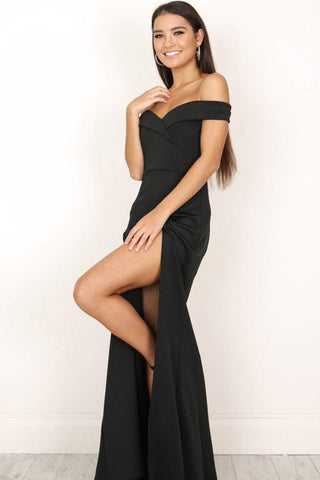 Sexy Candy Color Off Shoulder Maxi Dress