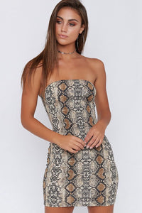 Sexy Snakeskin Club Dress