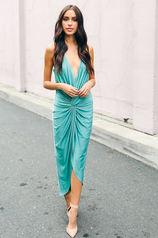 Sexy Pleated Spaghetti Strap Day Dress