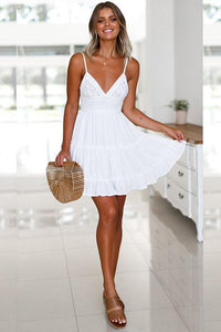Vogue Lace-up Ruffle Day Dress