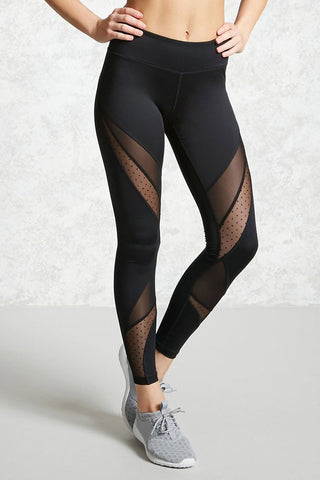 Mesh Fitness Breathable Pocket Leggings