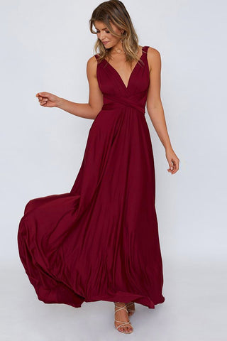 Sexy Plain Side-Slit Party Dress