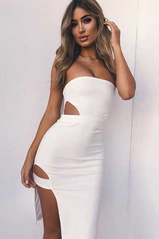 Sexy Cut-Out Side-Slit Club Dress