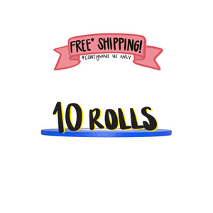Ships Free: ELECTRIC BLUE Gaffer Tape, Pack of 10 Rolls, 1/4-inch x 45/50 YDS [Final Sale Item]