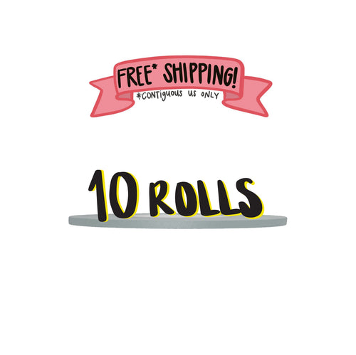 Ships Free: GRAY Gaffer Tape, Pack of 10 Rolls, 1/4-inch x 45/50 YDS [Final Sale Item]