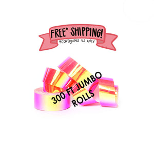 Ships Free: Nuclear Bubblegum Color Shifting Tape TWO (2) JUMBO ROLLS 3/4-inch x 300 FT [Final Sale Item]