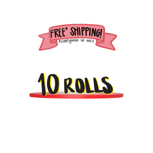 Ships Free: RED Gaffer Tape, Pack of 10 Rolls, 1/4-inch x 45/50 YDS [Final Sale Item]