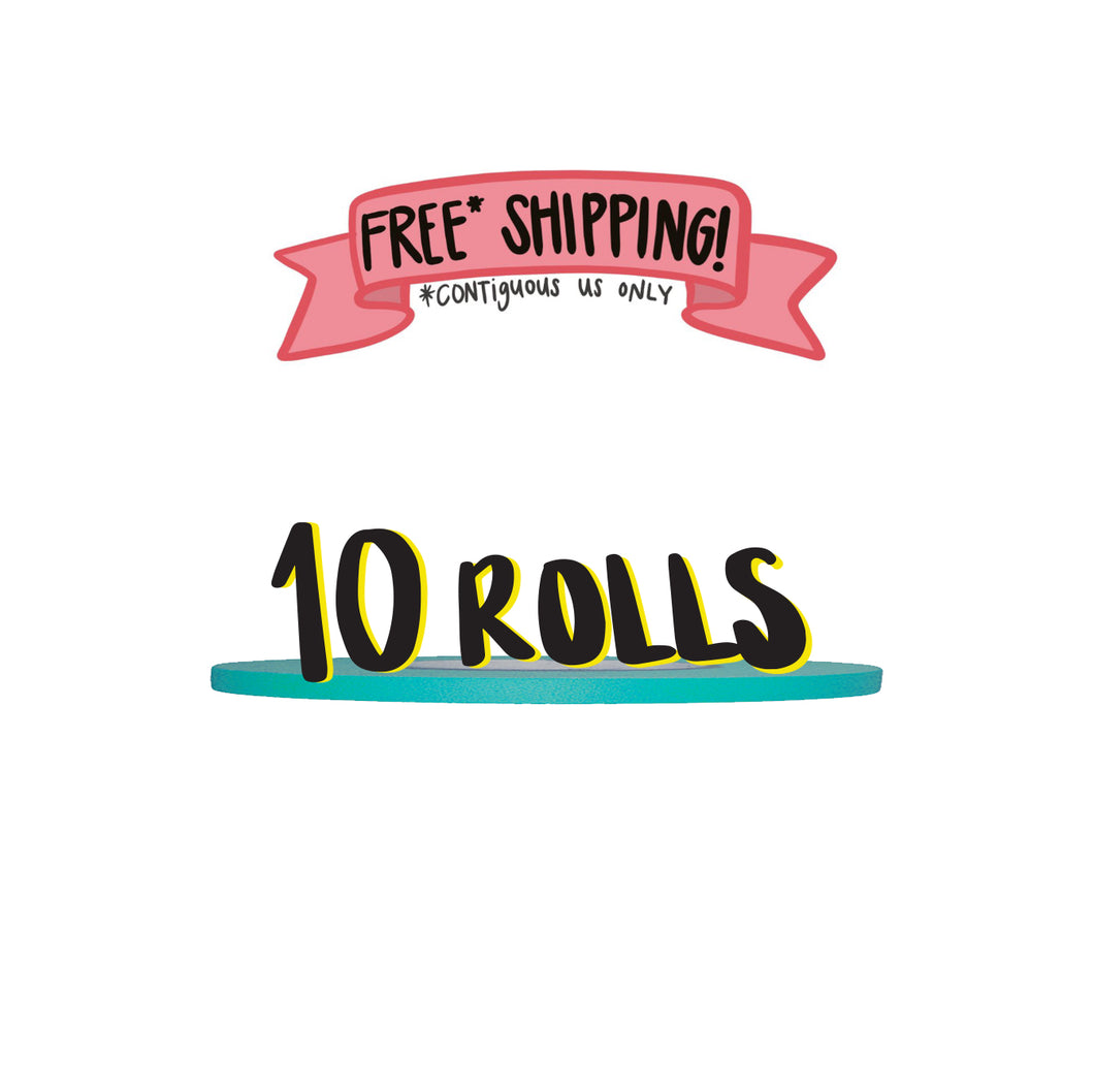 Ships Free: TEAL Gaffer Tape, Pack of 10 Rolls, 1/4-inch x 45/50 YDS [Final Sale Item]