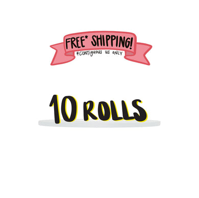 Ships Free: WHITE Gaffer Tape, Pack of 10 Rolls, 1/4-inch x 45/50 YDS [Final Sale Item]