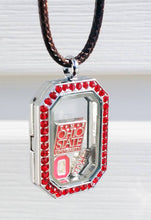 The Buckeye Bead Floating Locket Charm THE Logo