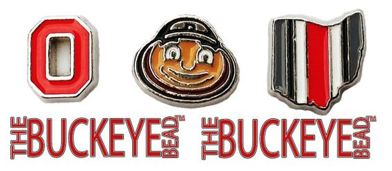The Buckeye Bead The Ohio State University Brutus Floating Locket Charm
