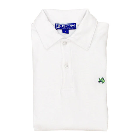 Short Sleeve Polo - White
